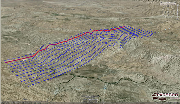 2D Seismic Survey Lines