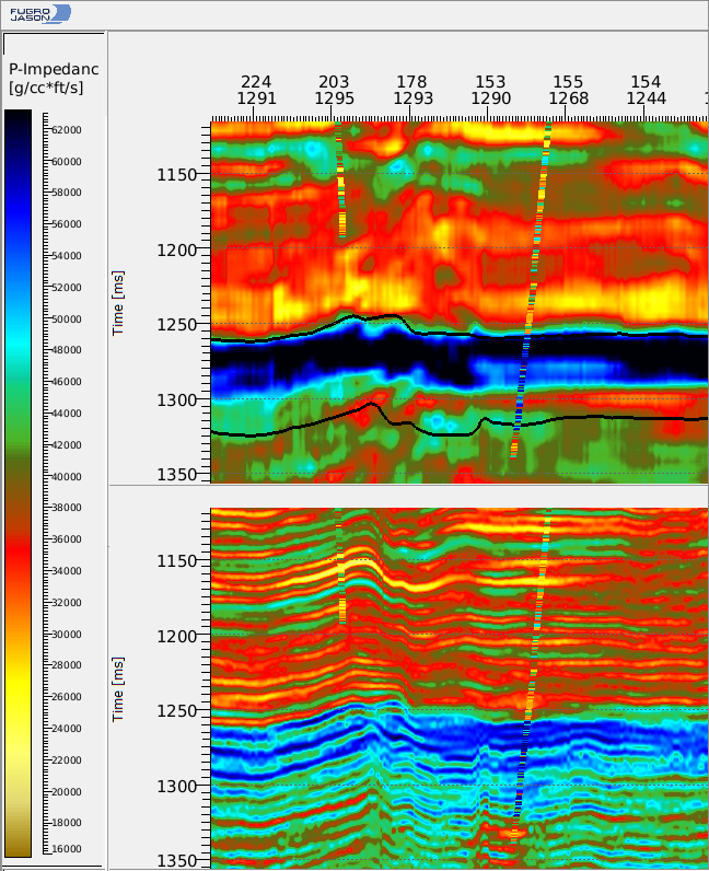 Comparison of Deterministic and Stochastic seismic inversion results