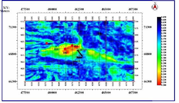 Multi-linear regression predicted porosity map