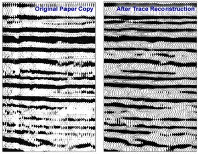 Scanning and trace Reconstruction