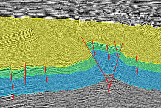 Structural seismic interpretation and subsurface configuration of basins